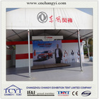 large outdoor auto show tent