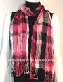 De la señora 100% tejido de algodón de moda bufanda