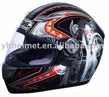 YOHE fiber glass motorcycle helmet with ECE DOT NBR stardard 927