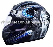 Fiber glass full face motorcycle helmet with ECE DOT NBR 927-blueness
