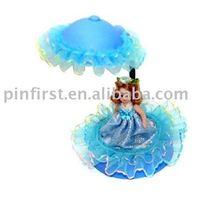 Blue Porcelain Girls' Room Cute Beautiul Unique Lace Lamp Light