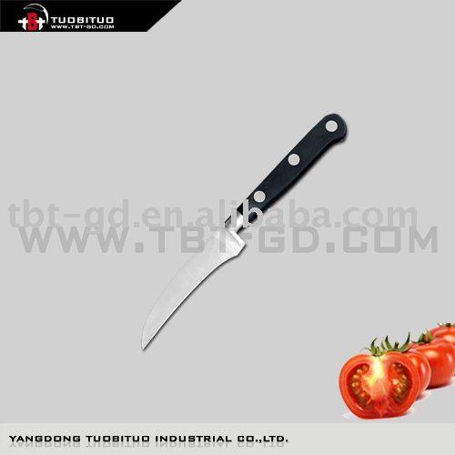 De acero inoxidable curvado cuchillo de cocina