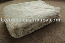 New design faux fur plush blanket