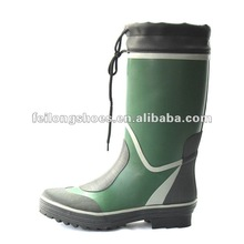 Wearable Fish Men Rubber Rain Boots with Collar Manufacturer