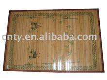 Printed bamboo fiber carpet
