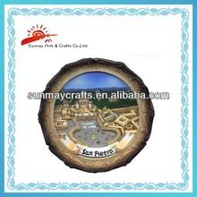 polyresin souvenir turistico piastre