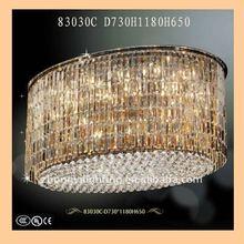 hotel oval crystal pendant lamp ZY-83030C(crystal chandelier lighting)