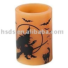 Halloween LED wax candle