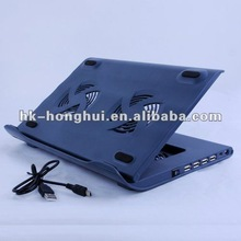 Adjustable Angle Usb Laptop Cooler With 4 Ports Hub