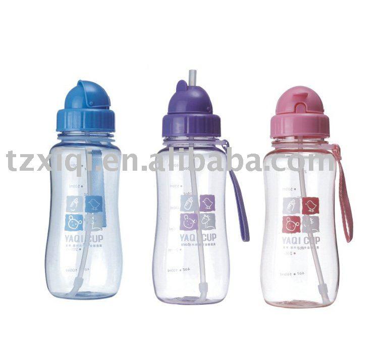 Plastic esporte garrafa de água garrafa de água da escola fácil transporte