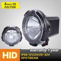 """New 4"""" Hid Off Road Light (black Ring), 35w/55w/75w HID driving light,HID spot light"""