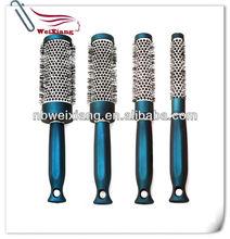 hair care plastic salon barrel hair brush with ceramic coating