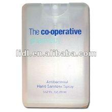 credit card antibacterial hand gel Spray