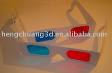 Promotion printed cheap carboard paper 3d glasses for 3d view