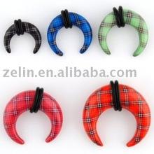 Ear piercing ornaments hot sale curved ear plugs spiral ear plug