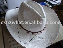 White handmade paper cowboy hat