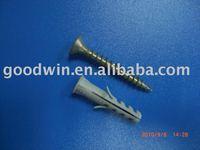plastic anchor wall plug with chipboard screw