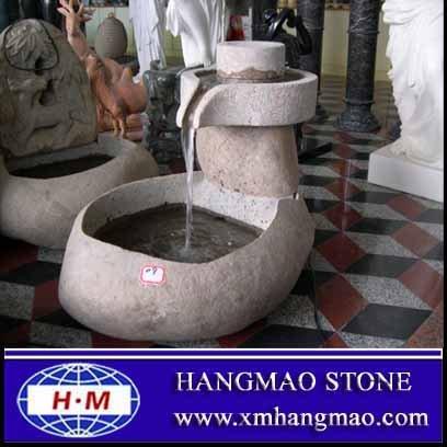 Pedra ao ar livre fontes de água