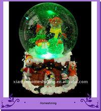Natal boneco de neve globo globo com cores de luz LED para venda