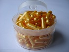 High quality gelatin empty gold capsules