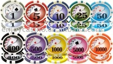 12g Casino Yin Yang Professional ABS sticker poker chip