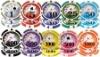 12g Casino Yin Yang Professional ABS sticker poker chip