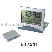 foldable digital travel alarm clock for promotion & gift