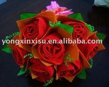 Christmas Gift -roses towel cake
