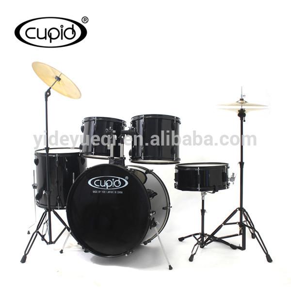 CUPID 5 pcs PVC Black jazz Drum set