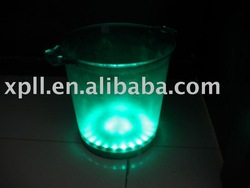 LED Flashing Ice Bucket, 5000ml, 22cm in Diameter