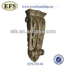 Goma tallas de madera decorativa corbel
