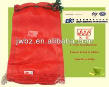 Bag ties up bags, PP leno mesh bags, handles for plastic bags