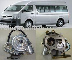 17201-30080 high toyota hiace VAN ,TOYOTA QUANTUM turbocharger, turbocharger toyota