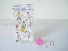 DIY MINI FOOTBALL CRYSTAL BLOCK ,MOBILE PHONE CHAIN, CRYSTAL BLOCK ,BLOCK,PUZZLE PRODUCT,INTELLIENCE TOY,DIY CRAFT