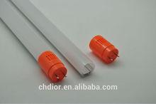 environmental friendly t8 led light tube with plastic shell aluminum heatsink