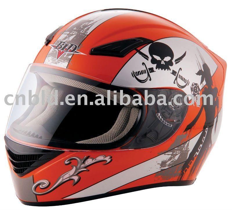 dirt bike helmets in orange