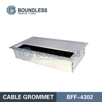 Office Tabletop Aluminum Alloy Cable Grommet /Wire Box