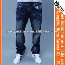 Hot sell new design men jeans in bulk denim jeans (HY1507)
