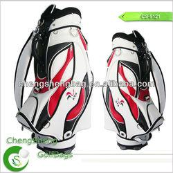 Custom leather golf bag