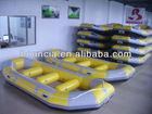 Hot inflatable rafting boat, river boat