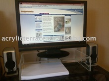 Clear Acrylic Computer Monitor Keyboard Stand/ lucite computer desk C0118001