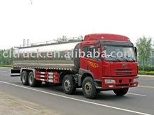 22m3 FAW 8X4 milk tanker truck,fresh milk truck,liquid tanker truck