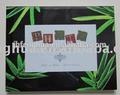 bambu novo design de moldura de vidro moldura de vidro