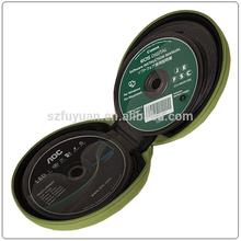 round shape portable cute cd dvd case