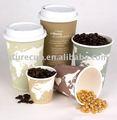 bebida quente de papel descartáveis copo de café