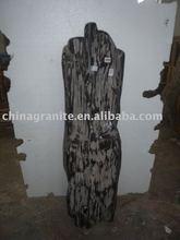 black polished petrified wood