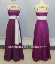 2012 Chiffon Crystal Brooch Bridesmaid Dress#9393