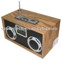 Wooden FM radio speaker EQ-017