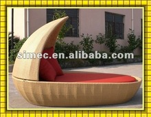 wicker rattan chaise lounge bed outdoor