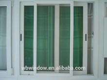 Fashional UPVC white color slidng window for sale,LG hausy UPVC sliding plastic window track